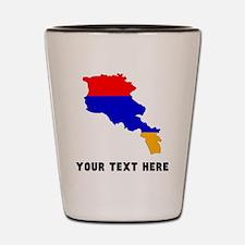 Armenian Flag Silhouette (Custom) Shot Glass