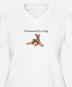 Airedales: Outsmarted by a Dog Plus Size T-Shirt