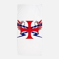 Templar Republic Flag Beach Towel