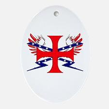 Templar Republic Flag Oval Ornament
