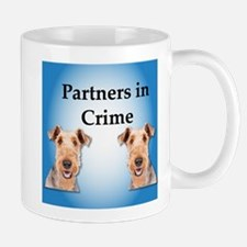 Airedale Terrier Partners in Crime Mugs