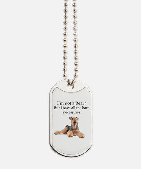 Airedale Surprised He Isn't a Bear Dog Tags