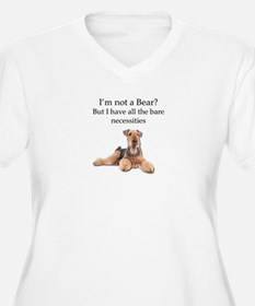 Airedale Surprised He Isn't a Be Plus Size T-Shirt