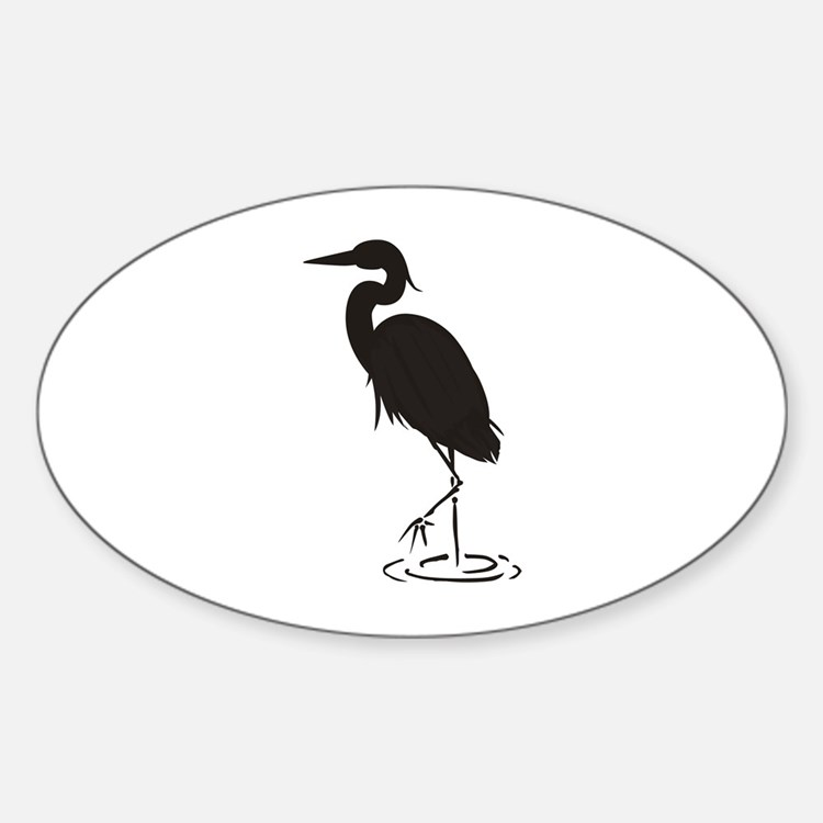 Heron Silhouette Decal