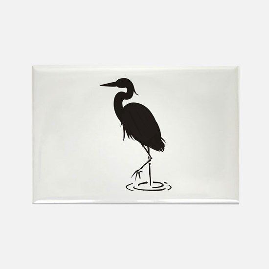 Heron Silhouette Magnets