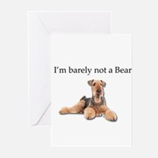 Airedale Terriers are barely not be Greeting Cards