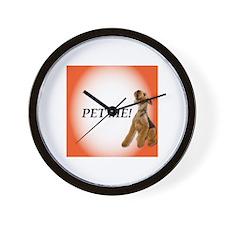Airedale Terrier Demanding you pet him Wall Clock