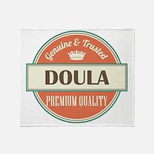 doula vintage logo Throw Blanket
