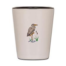 Heron In Marsh Shot Glass