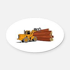 Logging Loader Oval Car Magnet