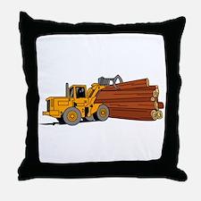 Logging Loader Throw Pillow
