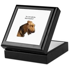 Airedale Destroyed your Rose Bushes Keepsake Box