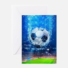 Ball Splash Over Stadium Greeting Cards