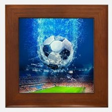 Ball Splash Over Stadium Framed Tile