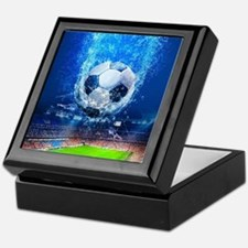 Ball Splash Over Stadium Keepsake Box