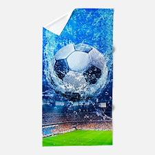 Ball Splash Over Stadium Beach Towel