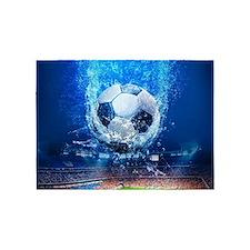 Ball Splash Over Stadium 5'x7'Area Rug