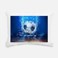 Ball Splash Over Stadium Rectangular Canvas Pillow