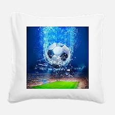 Ball Splash Over Stadium Square Canvas Pillow