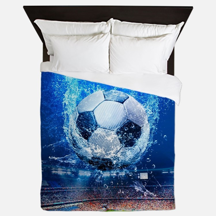 Ball Splash Over Stadium Queen Duvet