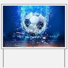 Ball Splash Over Stadium Yard Sign