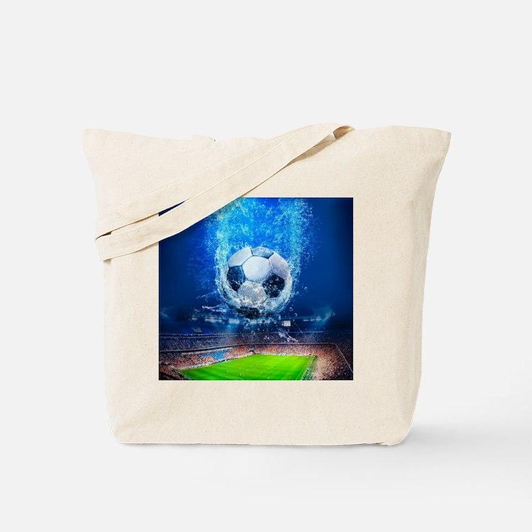 Ball Splash Over Stadium Tote Bag