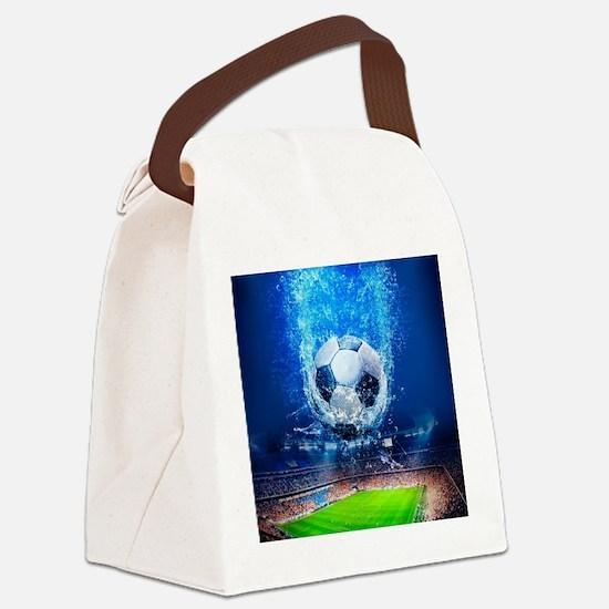 Ball Splash Over Stadium Canvas Lunch Bag