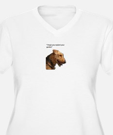 Airedale Terrier wishing you you Plus Size T-Shirt