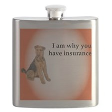 Airedales: Why you have insurance Flask