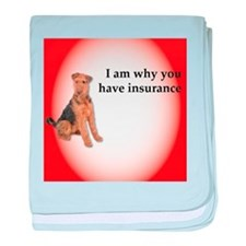 Airedales: Why you have insurance baby blanket