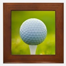 Golf Ball Framed Tile