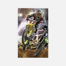 Motocross Arena Area Rug