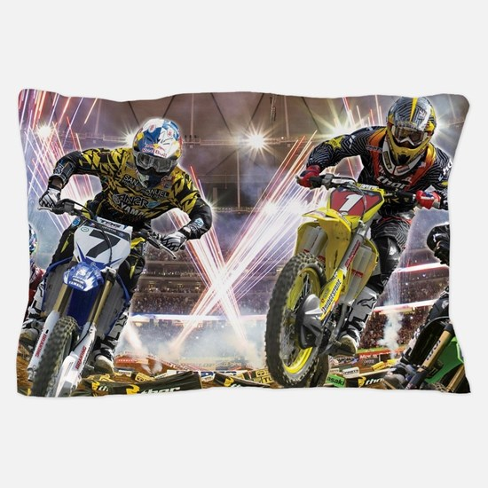 Motocross Arena Pillow Case