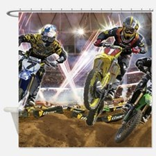 Motocross Arena Shower Curtain