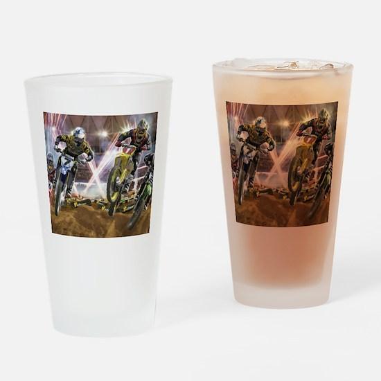 Motocross Arena Drinking Glass