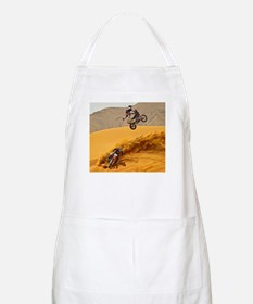 Motocross Riders Riding Sand Dunes Apron