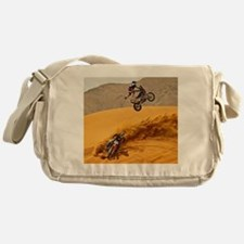 Motocross Riders Riding Sand Dunes Messenger Bag