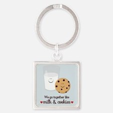 Milk and Cookie Valentine Keychains