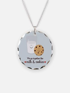 Milk and Cookie Valentine Necklace