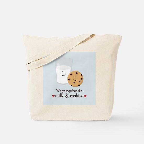 Milk and Cookie Valentine Tote Bag