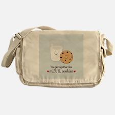 Milk and Cookie Valentine Messenger Bag