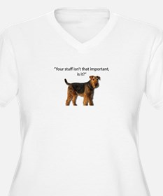 Airedale Doesn't Respect your St Plus Size T-Shirt