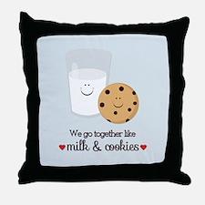 Milk and Cookie Valentine Throw Pillow