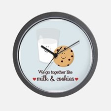 Milk and Cookie Valentine Wall Clock