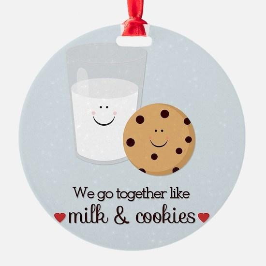Milk and Cookie Valentine Ornament