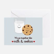Milk and Cookie Valentine Greeting Cards