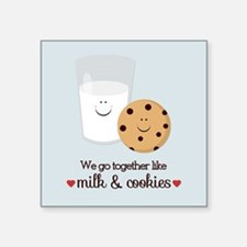 Milk and Cookie Valentine Sticker