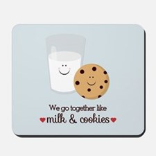 Milk and Cookie Valentine Mousepad