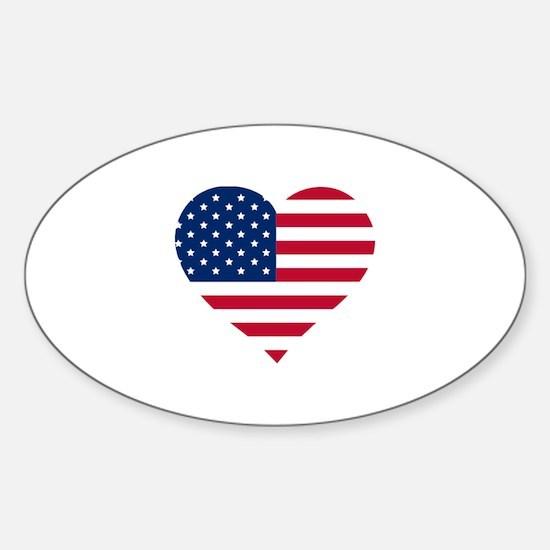 American Heart Decal