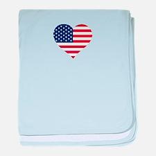 American Heart baby blanket
